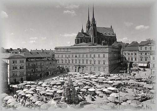 Zelný trh v roce 1931; foto: archiv autorů.
