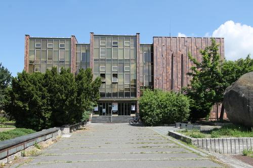 Původní budova Muzea dělnického hnutí v Českých Budějovicích, dnes sídlo Jihočeské vědecké knihovny
