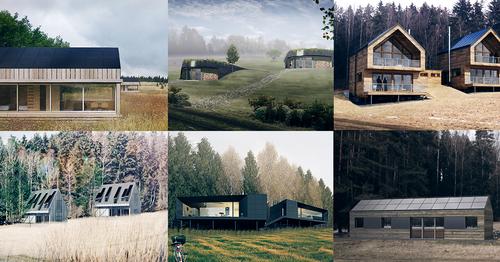 Vybrané studentské projekty off-grid staveb z ročníku 2016; zdroj: Český ostrovní dům.