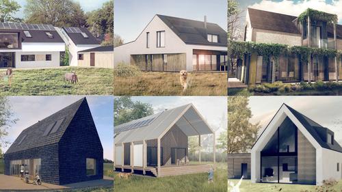 Vybrané studentské projekty soběstačných domů, které využívají elektrickou síť jen jako záložní zdroj, ročník 2017; zdroj: Český ostrovní dům.