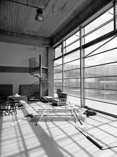Volně uzpůsobitelný prostor vúrovni 2A; foto: Valéry Didelon, 2011.