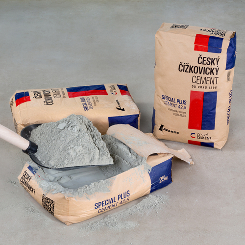 Český čížkovický cement; zdroj: Lafarge.
