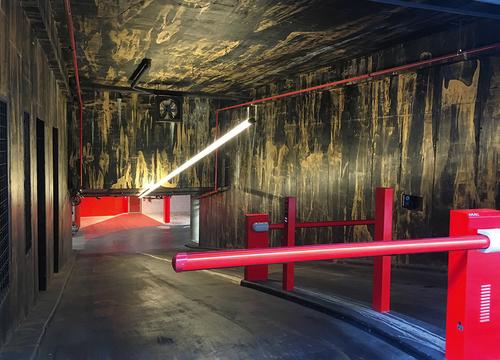 Podzemní garáže vuměleckém pojetí Patrika Hábla.