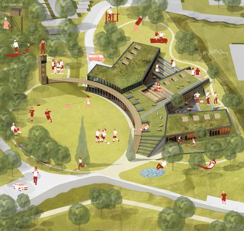 Vítězný návrh Atelieru Vizage, vizualizace.