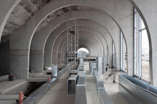 Vinařství Lahofer uDobšic od studia CHYBIK+KRISTOF ARCHITECTS & URBAN DESIGNERS je právě ve výstavbě; předpokládané dokončení je naplánováno na léto 2019; foto: Alexandra Timpau.