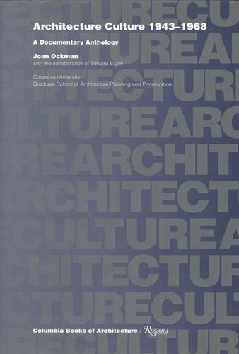 Joan Ockman je autorkou řady významných publikací; cenami ověnčená antologie Architecture Culture 1943–1968: ADocumentary Anthology vyšla poprvé již vroce 1993 vnakladatelstvích Columbia Book of Architecture aRizzoli.