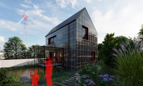 Vítězný návrh studenta Jiřího Petrželky disponuje fotovoltaickými panely o výkonu 18,425 kWp spolu s bateriovým úložištěm o kapacitě 6,48 kWh a pokryje tak kompletně svou potřebu elektrické energie minimálně 265 celých dní v roce.
