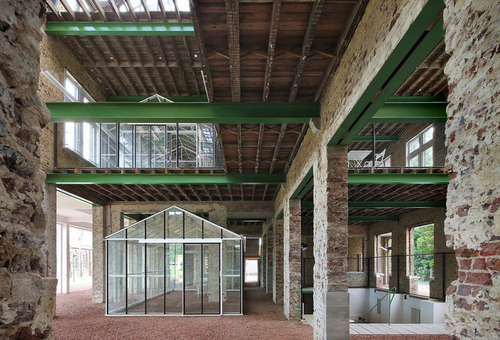 Architecten de vylder vinck taillieu: Pavilon psychiatrické kliniky Caritas v Melle; zdroj: KRUH.