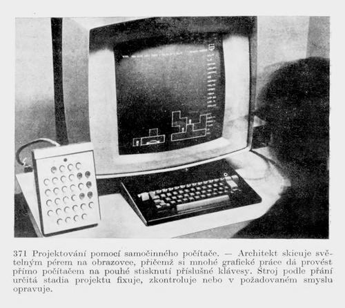 1Architecture Machine Group: URBAN5, 1967; repro: Felix Haas: Architektura 20. století. SPN, Praha, 1978, s. 554.