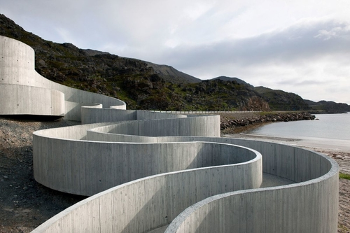 Reiulf Ramstad Arkitekter: Národní turistická cesta Selvika, 2012; zdroj: Kruh.
