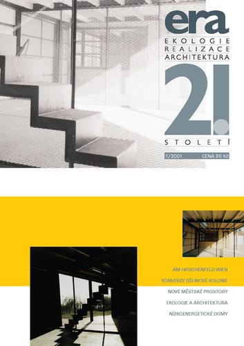 Historicky první obálka časopisu ERA21 #01/2001; návrh: Tomáš Šťovíček; zdroj: archiv redakce.
