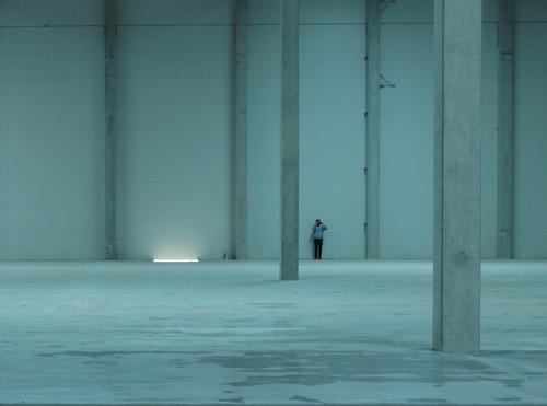 Interiér prázdné haly, CT Park Bor, 2018; foto: Miroslav Pazdera.