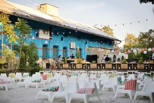 Hlediště letního kina vRadlické Kulturní sportovně; zdroj: Radlická Kulturní sportovna.