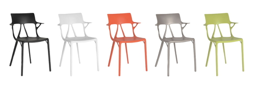 Designová řada židlí A.I. navržených za pomoci umělé inteligence; zdroj: Autodesk.