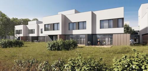 Soubor osmnácti rodinných domů projektu Villa Resort Kolovraty díky rychlému zdění smaltou HELUZ SIDI doslova roste před očima vpoklidném ažvenkovském prostředí na jihovýchodním okraji Prahy.