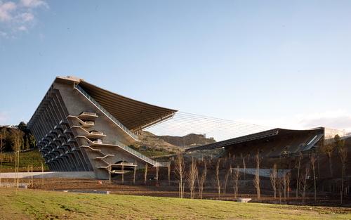 Eduardo Souto de Moura: Fotbalový stadion vBraze (2003); foto: Christian Richters.