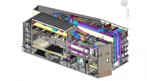 Návrh konzervatoře v BIM; zdroj: Hoare Lea.