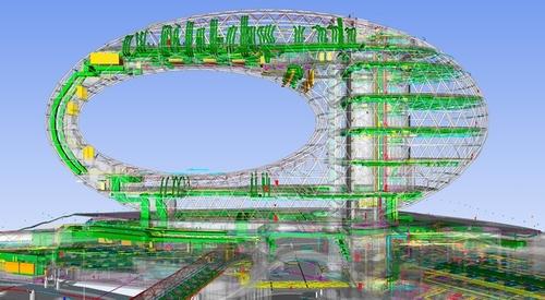 BIM model projektu; zdroj: BuroHappold Engineering.