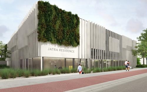 Hotel Jatra v Amsterdamu - vizualizace; zdroj CONIX RDBM Architects.