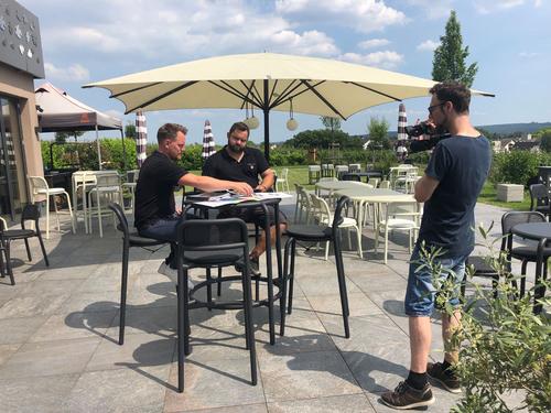 Natáčení videa o projektu; foto: Landesmesse Stuttgart GmbH.