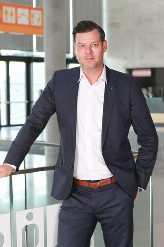 Sebastian Schmid, Department Director Technology at Messe Stuttgart; foto: Landesmesse Stuttgart GmbH.