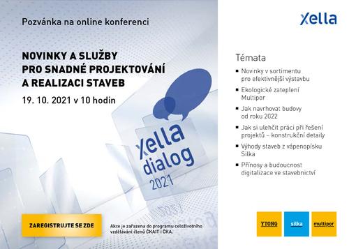 Pozvánka na online konferenci Xella Dialog; zdroj: Xella.